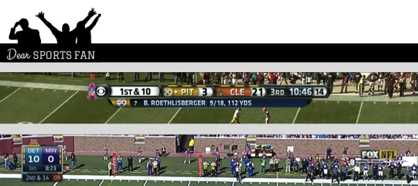Deciphering TV Graphics: Fox and CBS NFL Football