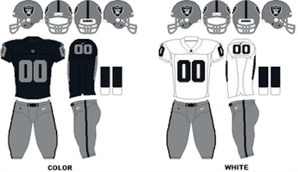 Oakland Raiders Uniforms