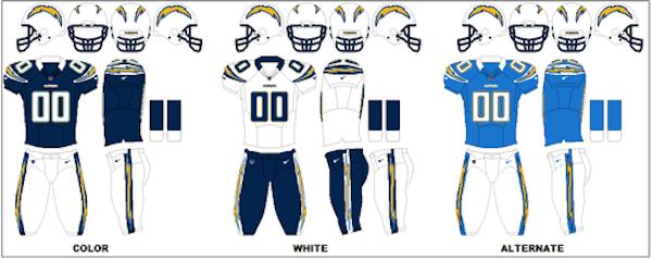 San Diego Chargers Uniform