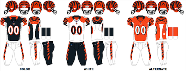Cincinnati Bengals Uniforms