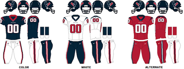 Houston Texans Uniforms
