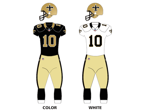 New Orleans Saints Uniforms