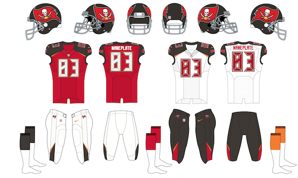 Tampa Bay Buccaneers Uniform