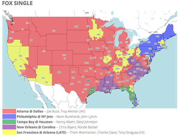 How can I tell what NFL football is on TV in my area?