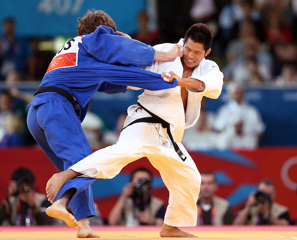 2012 London Olympic Games  Korea Judo, Kim Jae-bum won the Semi-Final -81kg match  2012.07.31  Photo by Korean Olympic Committee  Ministry of Culture, Sports and Tourism Korean Culture and Information Service  --------------------------------------  2012 런던 올림픽  한국 남자 유도 -81kg 김재범 준결승전  사진제공 - 대한체육회  문화체육관광부 해외문화홍보원