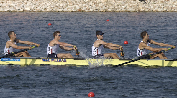 How do repechages work in Olympic rowing?