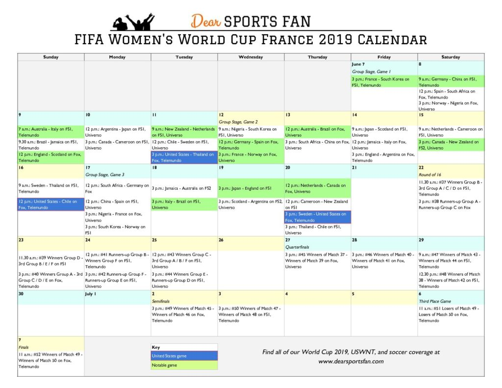 picture regarding World Cup Printable Schedule titled Global Cup 2019 Printable, Downloadable Calendar and Match
